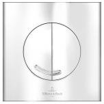 Vajutusnupp seina wc-le, mehaaniline, kroom, V&B logoga