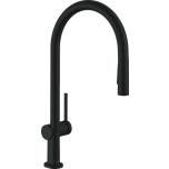 Köögisegisti Hansgrohe Talis M54 210 Eco, väljatõmmatava otsikuga, matt-must