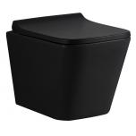 Seina wc LaVita LAGO RIM+, SoftClose prill-lauaga, matt-must