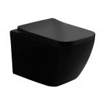 Seina wc LaVita LINO BLACK, RIM+, SoftClose prill-lauaga