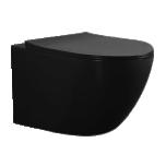 Seina wc LaVita SINTO BLACK, RIM+, SoftClose prill-lauaga