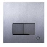 Vajutusnupp seina wc-le, mehaaniline, harjatud roostevaba