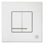 Vajutusnupp seina wc-le, mehaaniline, valge