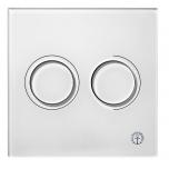 Vajutusnupp seina wc-le, pneumaatiline, valge klaas